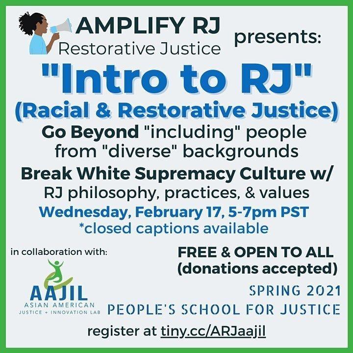 Intro to Restorative Justice Flyer